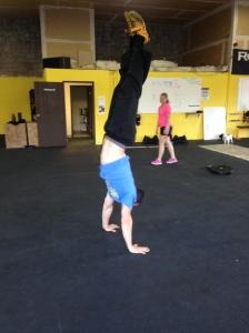 Zack doing his handstand!